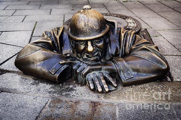 Man At Work In Bratislava Print by Jelena Jovanovic