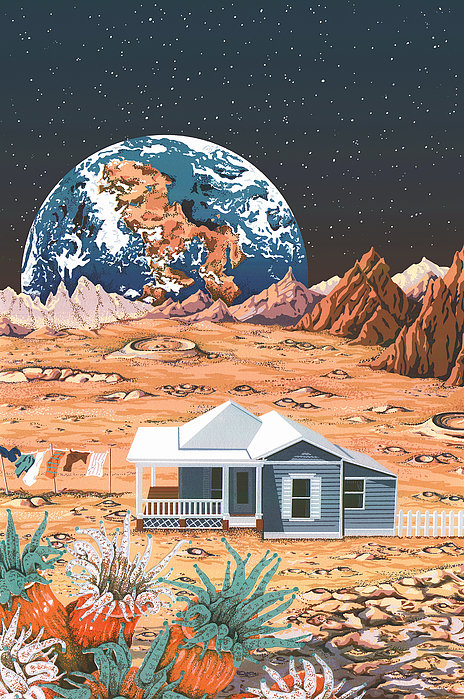 Man On The Moon Print by Anne Gifford
