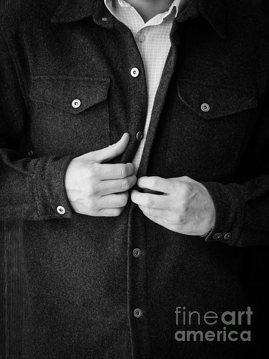Man Unbuttoning His Shirt Print by Edward Fielding
