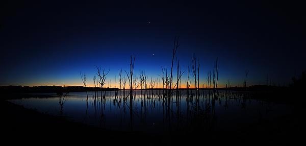 Manasquan Reservoir At Dawn Print by Raymond Salani III