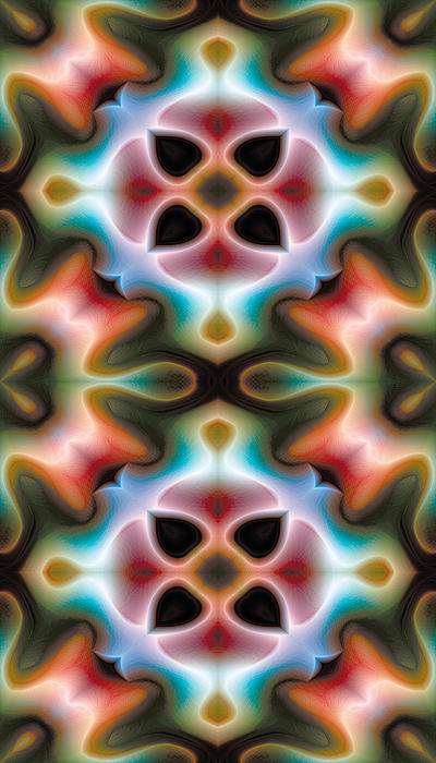 Mandala 82 For Iphone Double Print by Terry Reynoldson