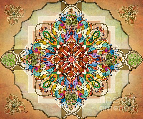 Mandala Birds Sp Print by Bedros Awak
