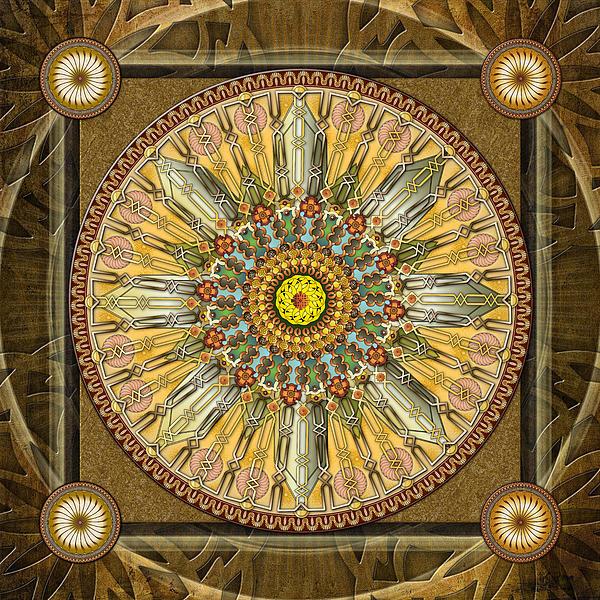 Mandala Illumination V1 Print by Bedros Awak