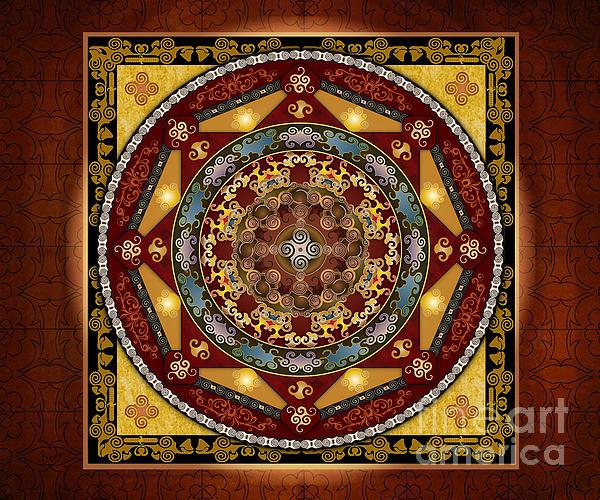 Mandala Oriental Bliss Sp Print by Bedros Awak