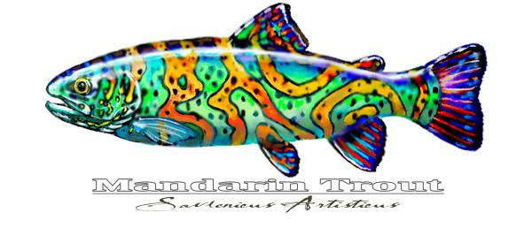 Mandarin Trout Savlenicus Artisticus Print by Mike Savlen