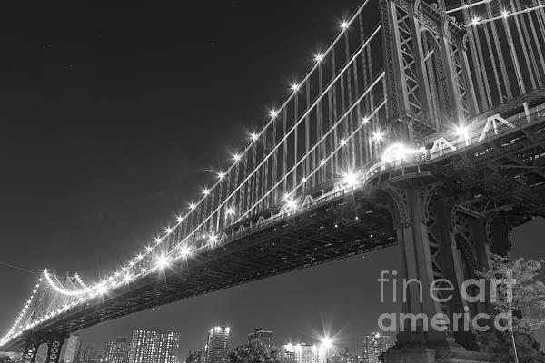 Manhattan Bridge At Twilight Print by AHcreatrix