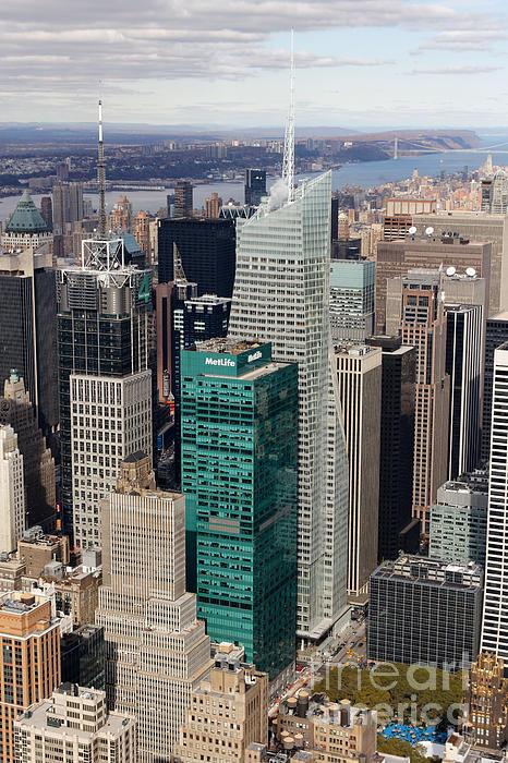 Manhattan Bryant Park Aerial Print by Jannis Werner