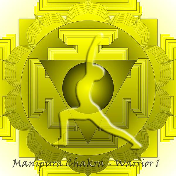 Manipura Chakra Warrior 1 Print by Sarah  Niebank