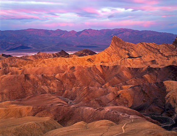 Manley Beacon From Zabriskie Point Print by Mike Norton