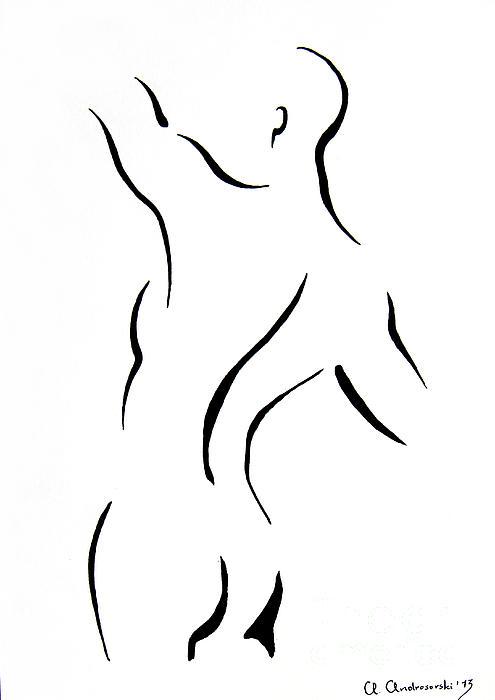 Man's Torse Print by Anna Androsovski