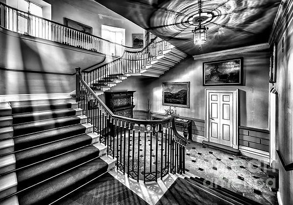 Mansion Stairway V2 Print by Adrian Evans