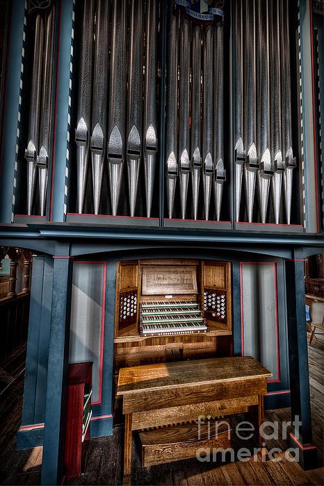 Manual Pipe Organ Print by Adrian Evans