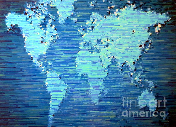 Map Of The World Print by Susan Waitkuweit