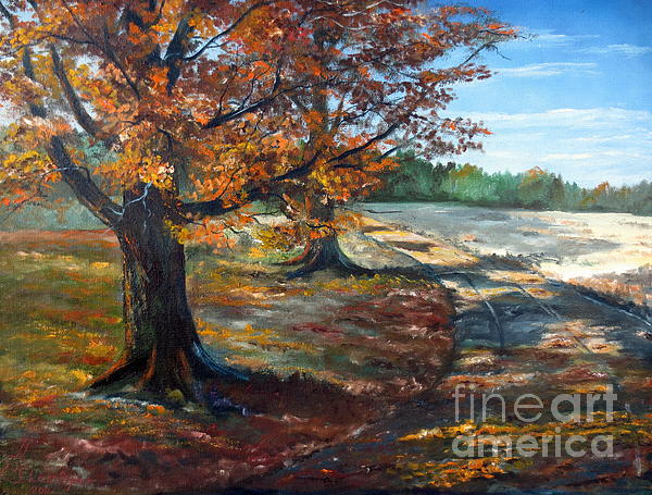 Maple Lane Print by Lee Piper
