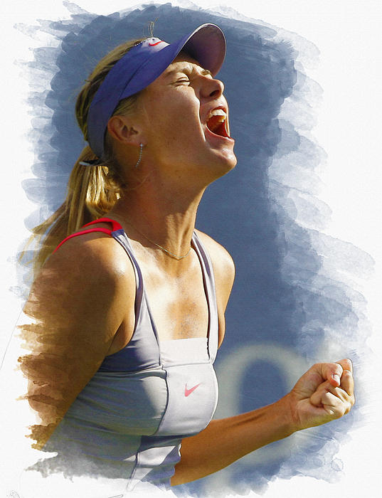Maria Sharapova - Us Open 2011 Print by Don Kuing