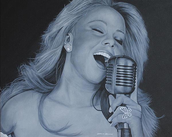 Mariah Carey Print by David Dunne