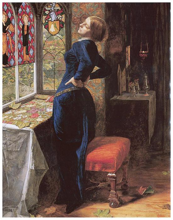 Mariana Print by John Everett Millais