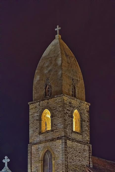 Marienkirche At Night Print by Gary Holmes