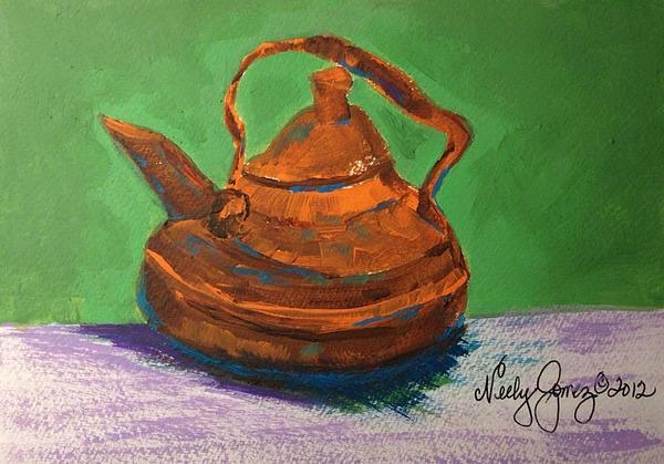 Marie's Teapot Print by Jo Anne Neely Gomez