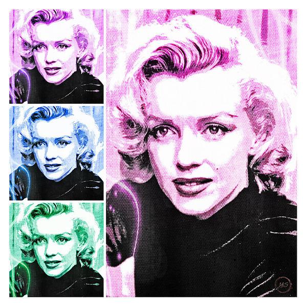 Marilyn Monroe Art Collage Print by Absinthe Art By Michelle LeAnn Scott