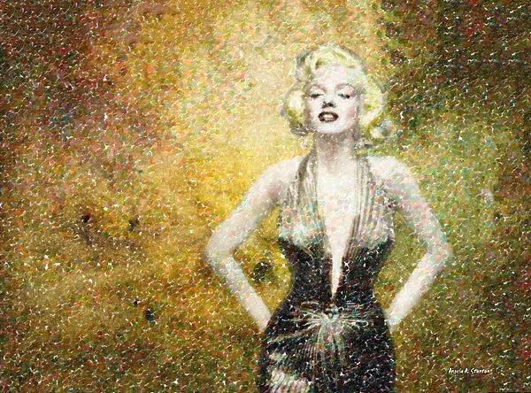 Marilyn Monroe In Points Print by Angela A Stanton