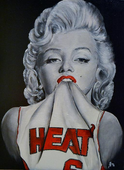 Marilyn Monroe Miami Heat Print by S G Williams