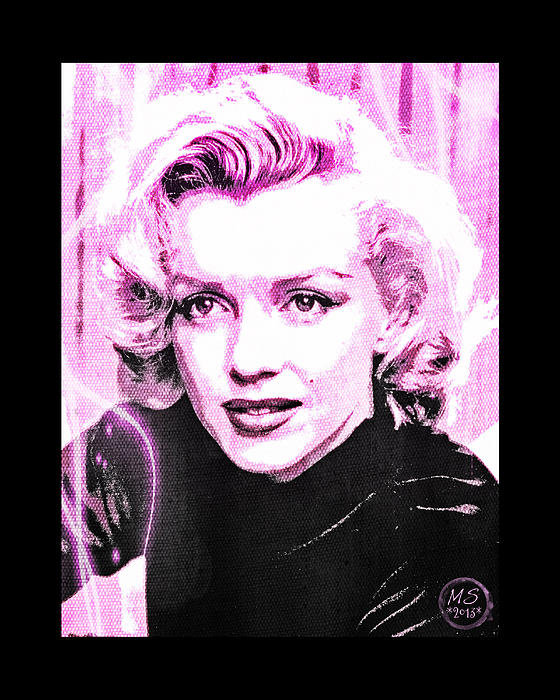 Marilyn Monroe - Pink Print by Absinthe Art By Michelle LeAnn Scott