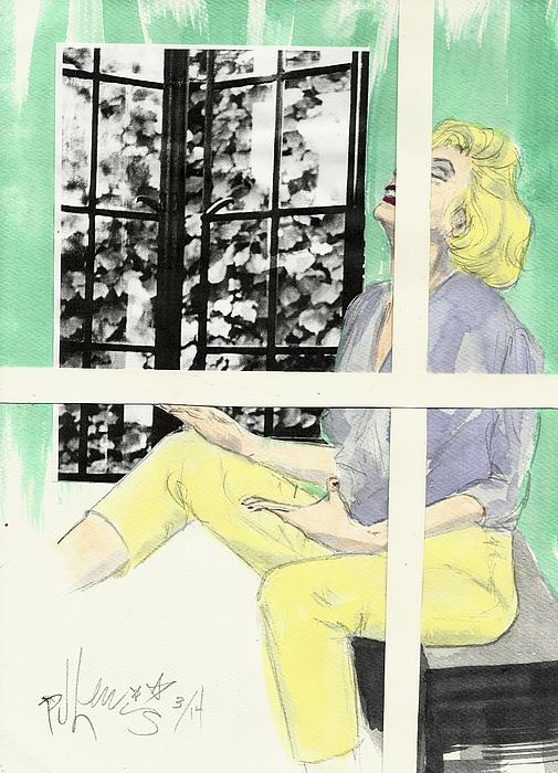 Marilyn's Two Windows Print by P J Lewis