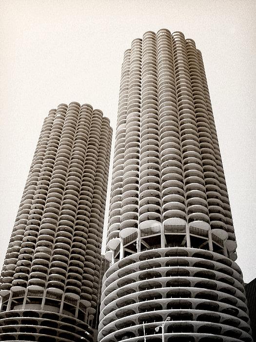 Marina City Chicago Print by Julie Palencia