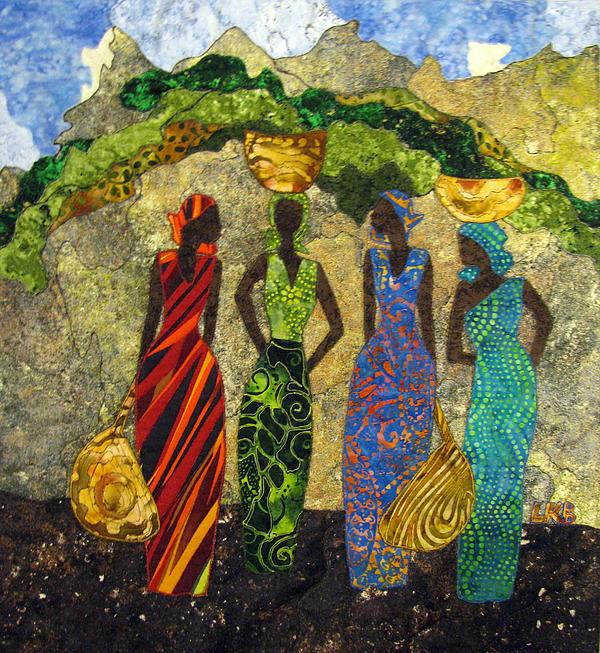 Market Day #1 Print by Lynda K Boardman