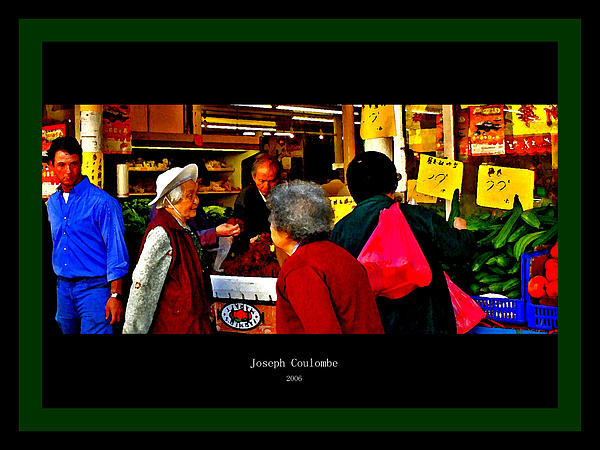 Market Day In Chinatown Print by Joseph Coulombe