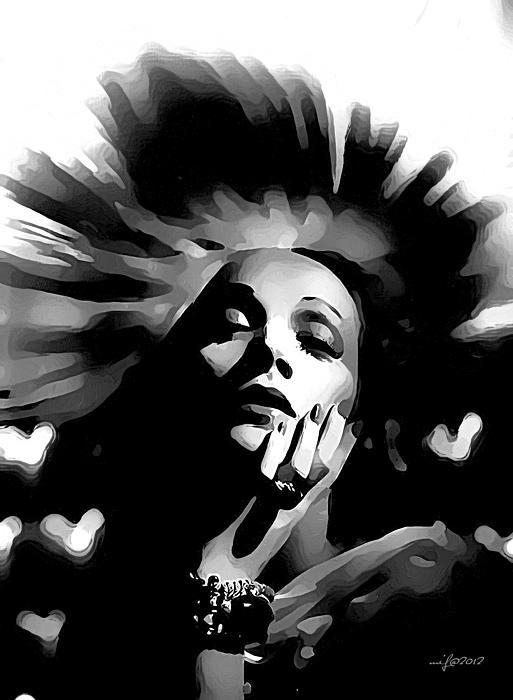 Marlene Dietrich Print by Maciej Froncisz
