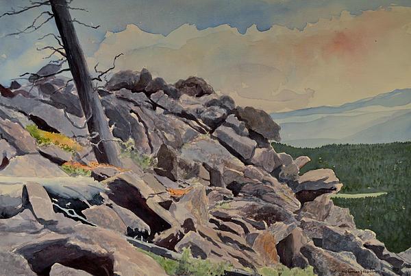 Marmot Hill Print by Thomas Stratton