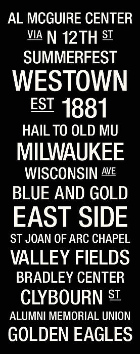 Marquette College Town Wall Art Print by Replay Photos
