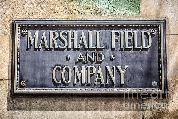 Marshall Field And Company Sign In Chicago Print by Paul Velgos