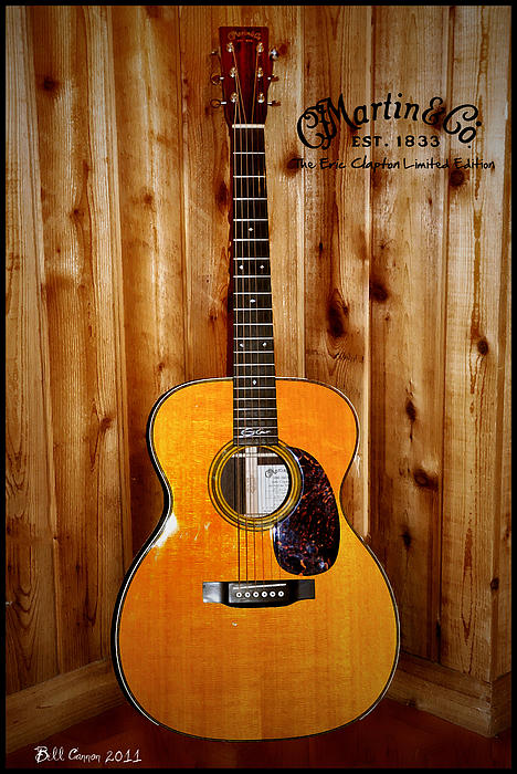 Martin Guitar - The Eric Clapton Limited Edition Print by Bill Cannon