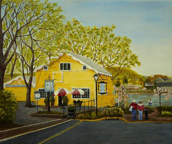 Martine's Riverhouse Print by Lynda Evans
