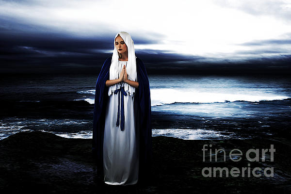 Mary By The Sea Print by Cinema Photography