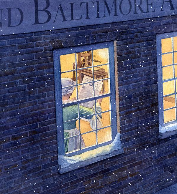Mary Katherine Goddard Print by Rob Wood