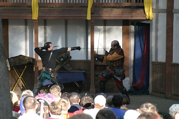 Maryland Renaissance Festival - Hack And Slash - 12127 Print by DC Photographer