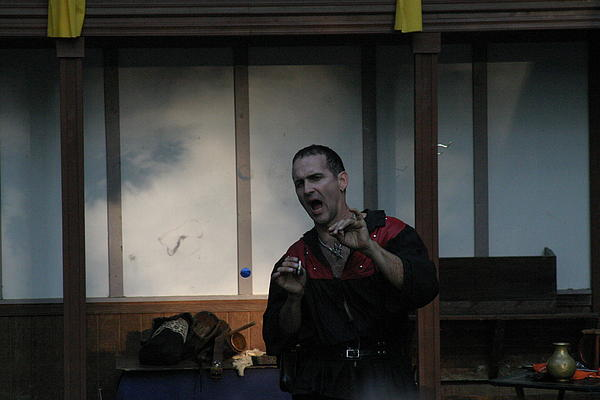 Maryland Renaissance Festival - Johnny Fox Sword Swallower - 1212123 Print by DC Photographer