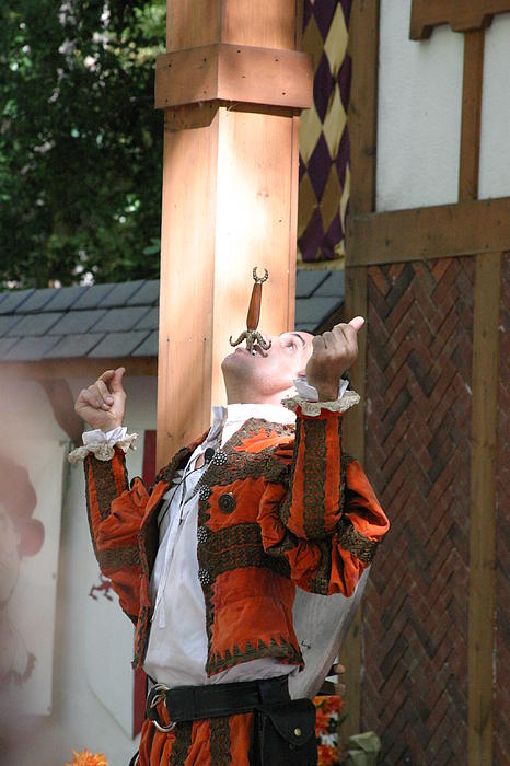 Maryland Renaissance Festival - Johnny Fox Sword Swallower - 121233 Print by DC Photographer