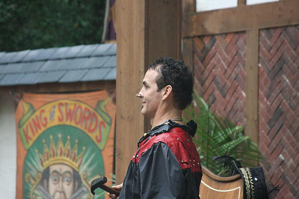 Maryland Renaissance Festival - Johnny Fox Sword Swallower - 121271 Print by DC Photographer