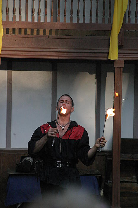 Maryland Renaissance Festival - Johnny Fox Sword Swallower - 121296 Print by DC Photographer