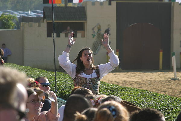 Maryland Renaissance Festival - Jousting And Sword Fighting - 1212122 Print by DC Photographer