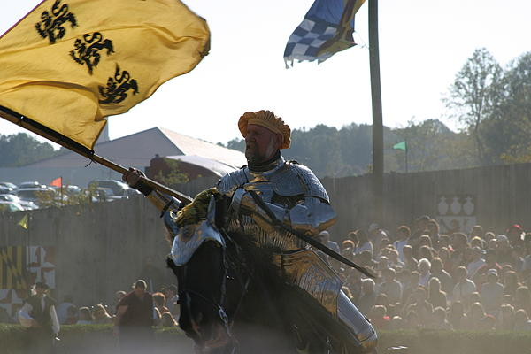Maryland Renaissance Festival - Jousting And Sword Fighting - 1212130 Print by DC Photographer