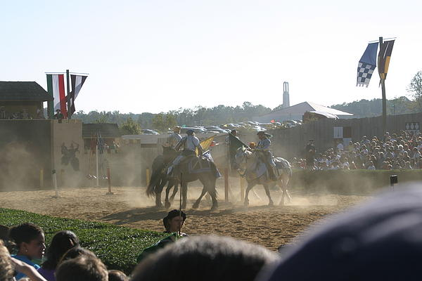 Maryland Renaissance Festival - Jousting And Sword Fighting - 1212139 Print by DC Photographer