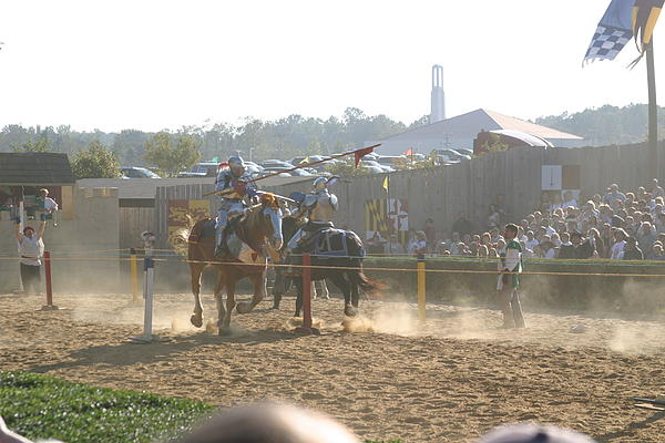 Maryland Renaissance Festival - Jousting And Sword Fighting - 1212195 Print by DC Photographer