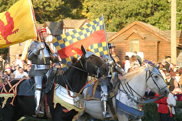 Maryland Renaissance Festival - Jousting And Sword Fighting - 121224 Print by DC Photographer