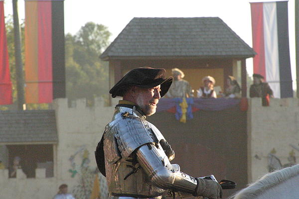 Maryland Renaissance Festival - Jousting And Sword Fighting - 121263 Print by DC Photographer